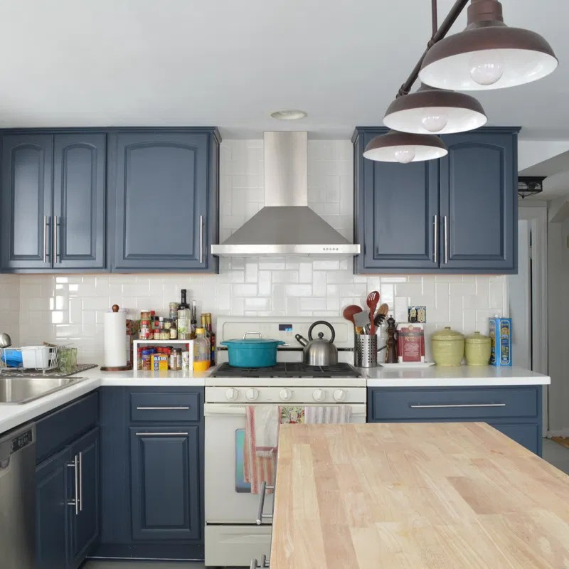Low Cost Backsplash: Not Your (Trendy) Grandmother's Herringbone Backsplash