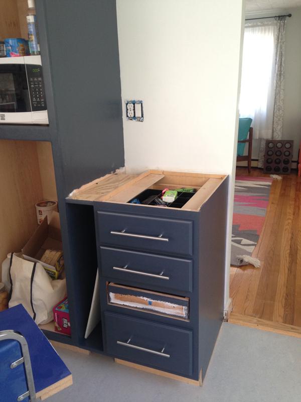 Installing butcher block counters -- Plaster & Disaster