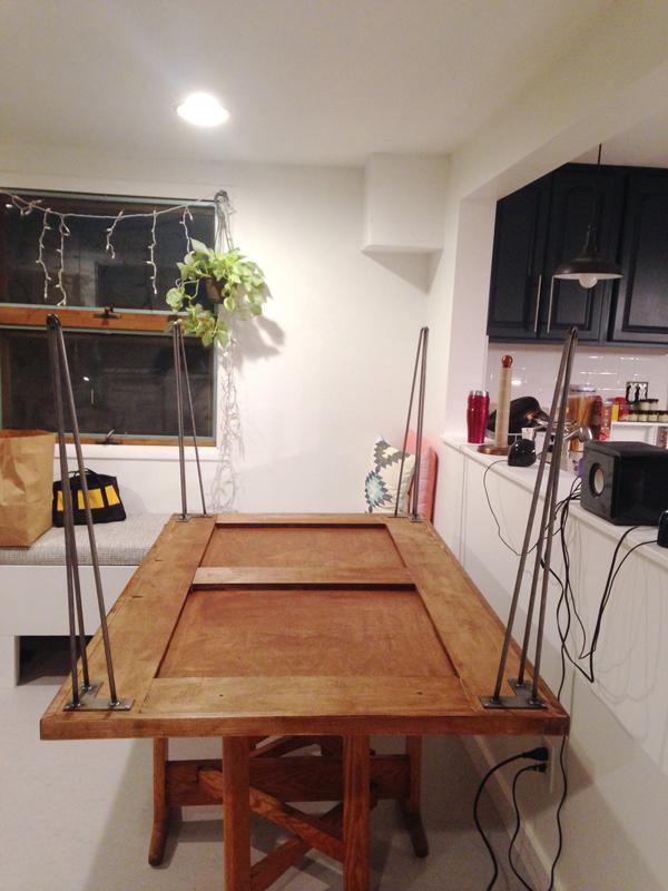 DIY Hairpin Leg Dining Table    Plaster U0026 Disaster