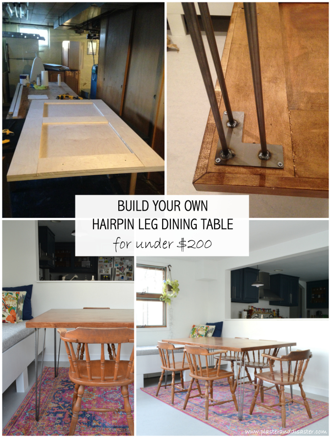 Phenomenal Diy Hairpin Leg Dining Table Plaster Disaster Camellatalisay Diy Chair Ideas Camellatalisaycom