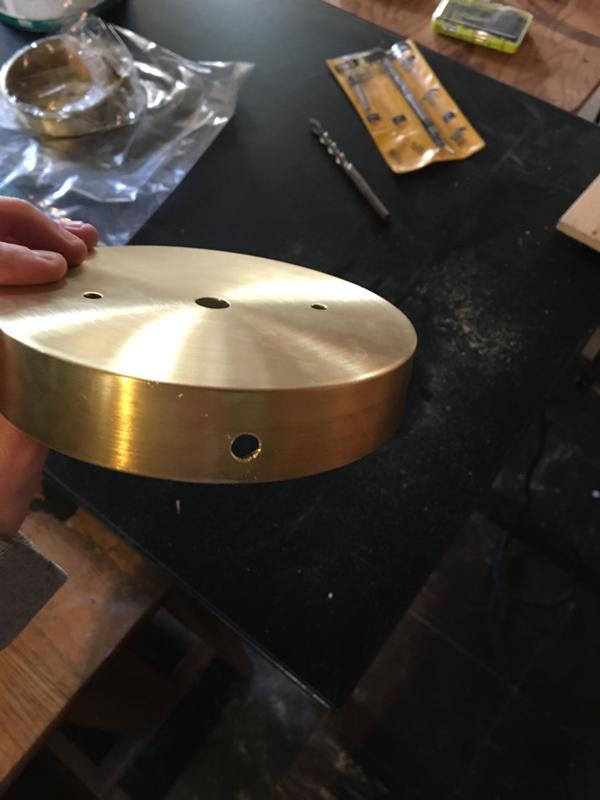 DIY midcentury sconce -- Plaster & Disaster