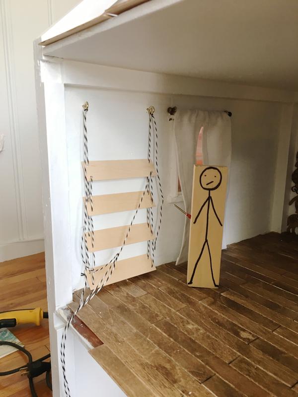 Dollhouse hanging shelves -- Plaster & Disaster