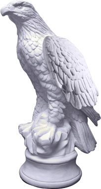 Eagle Round Base Plaster Statue Large AN200