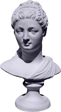 Proserpina Bust Plaster Statue