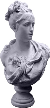 Roman Lady Bust Plaster Statue XL