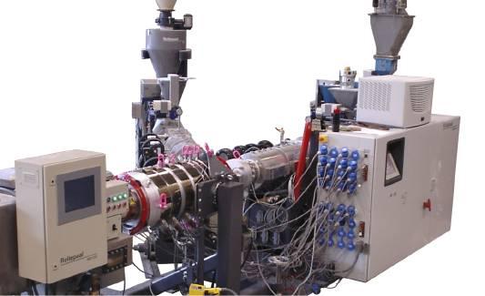 Multilayer extruder σωληνων πολυστρωματικός