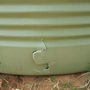 Oops! - Tank no match for frontend loader bucket