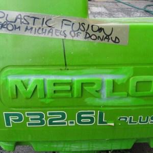 Merlo tank crack around name