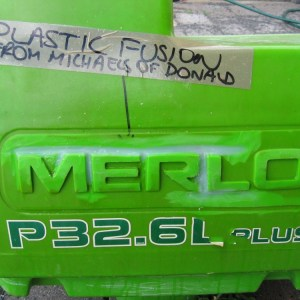 Merlo tank crack around name