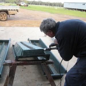 Repairing footbath trays