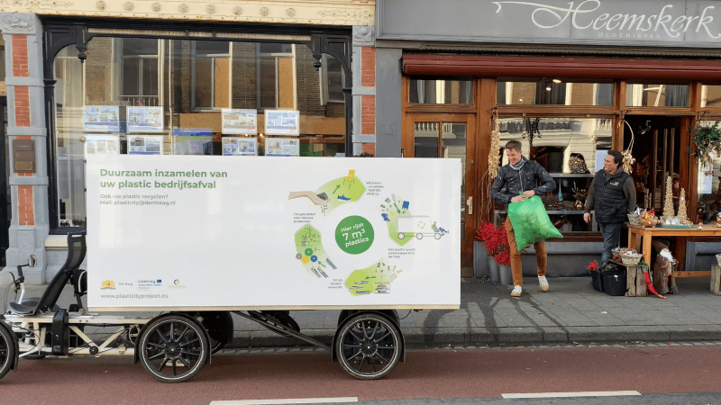 plastic waste collection in The Hague