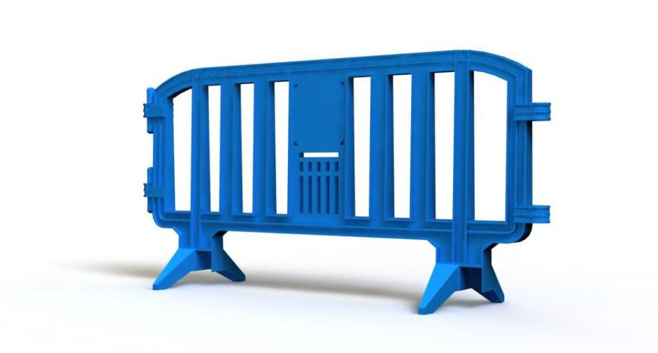 Plastic blue barrier