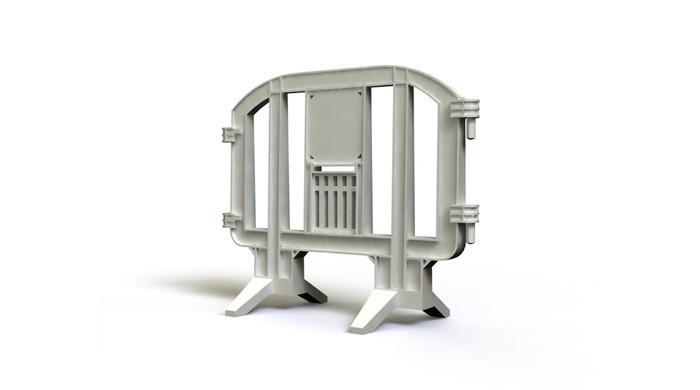 White plastic barricade