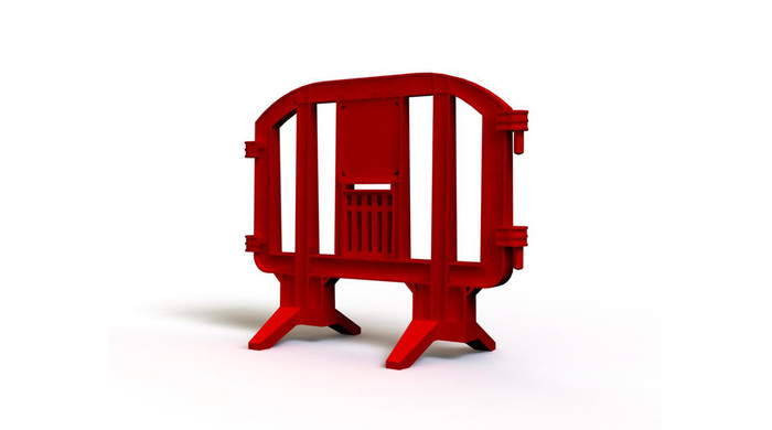 Red LineEx plastic barrier