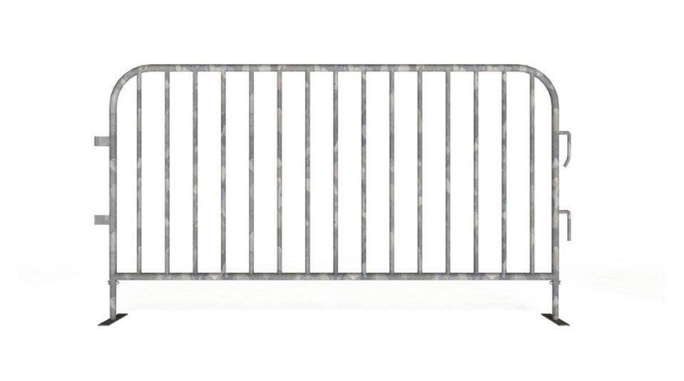 2 meter steel barrier