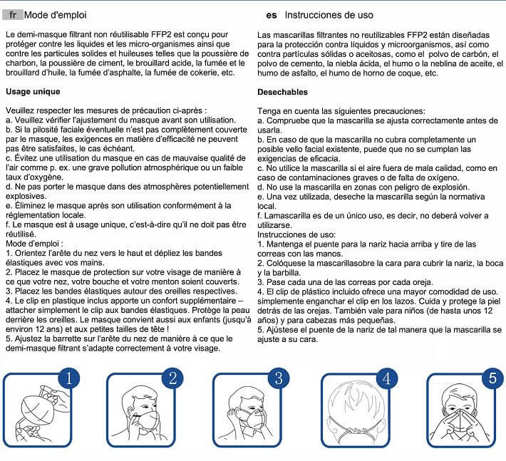 FFP2 mask use manual