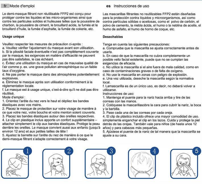 FFP2 mask use manual