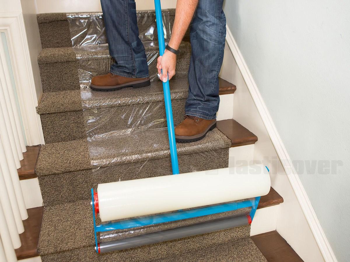 Carpet Protection Film | Protecting Carpet On Stairs | Stair Treads Carpet | Carpet Mats | Non Slip Mat | Self Adhesive | Flooring