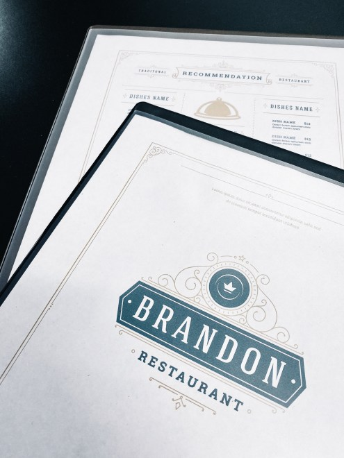 Restaurant menu covers & accessories