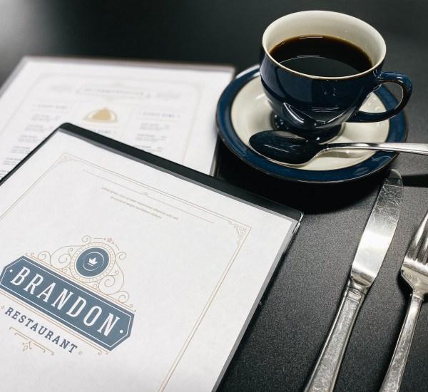 Heat sealed menu for cafe