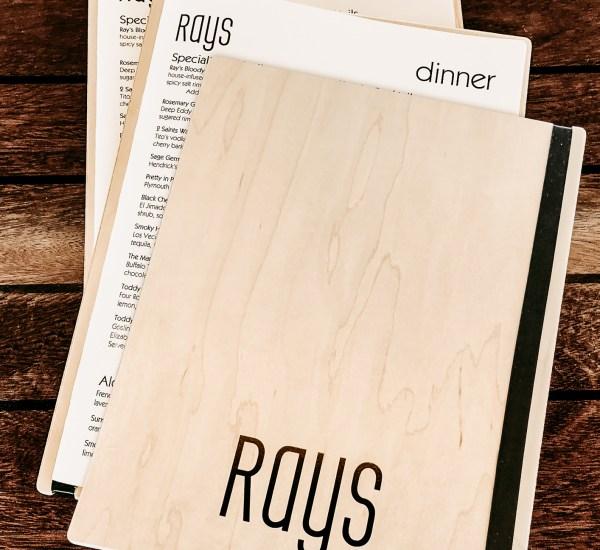 Wood board menu