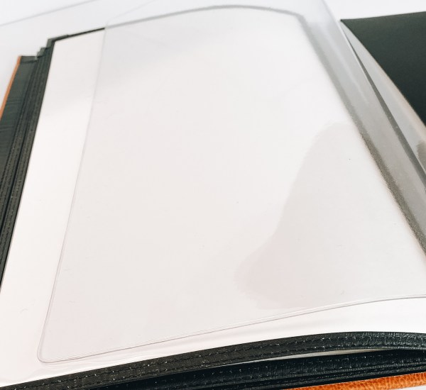 restaurant menu covers with plastic insert options