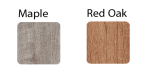 maple and red oak