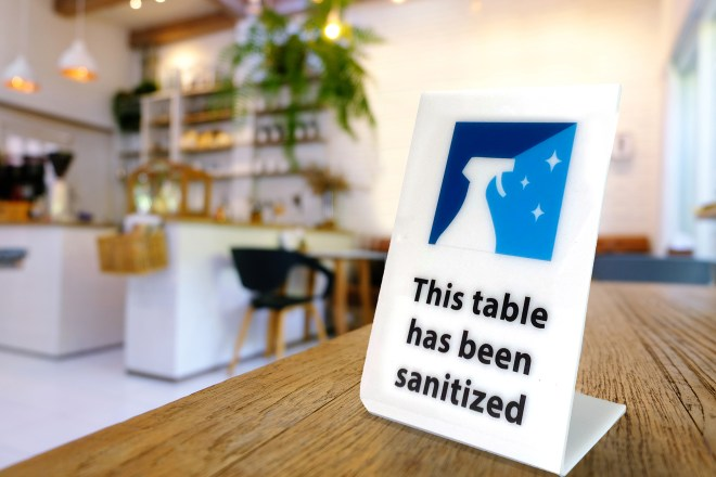 Sanitzed sign