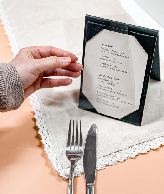 table tent overlay