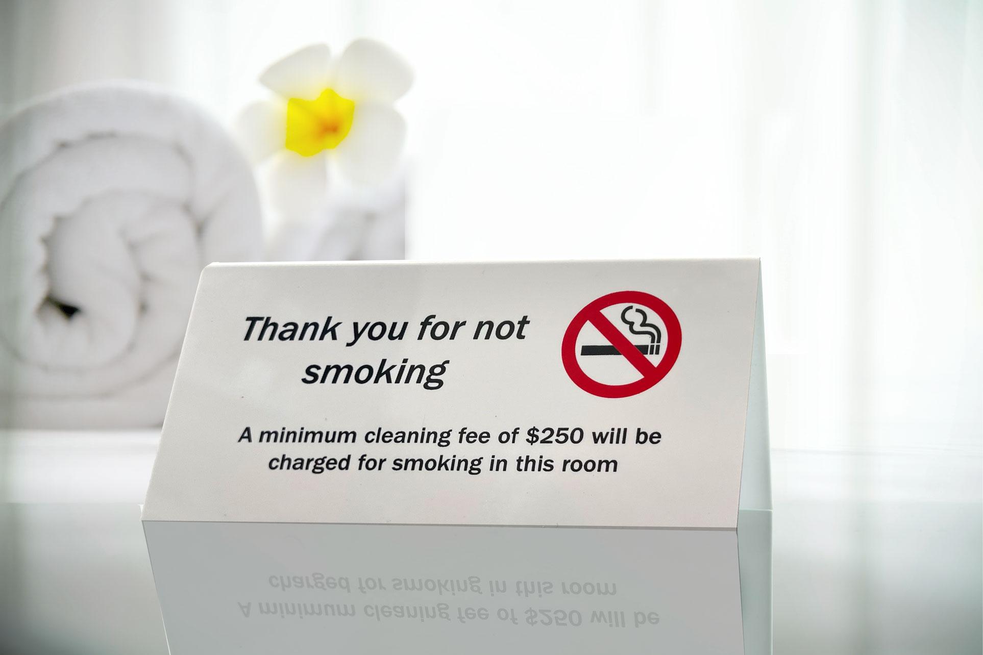 Custom print hospitality sign