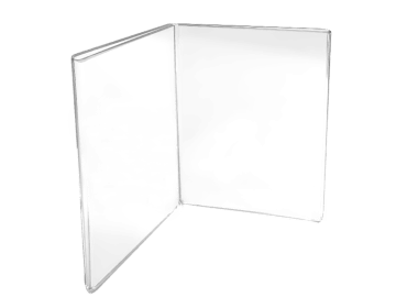 Book style sign holder