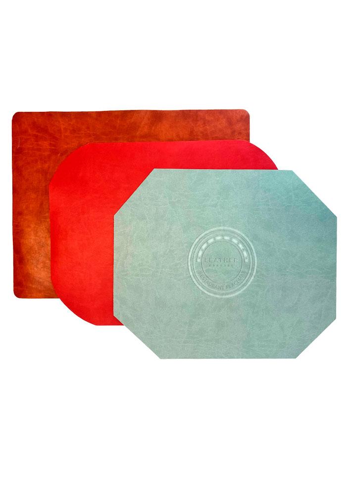 Custom deboss placemats