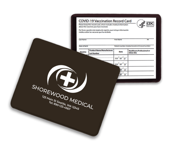 brown vaccination card