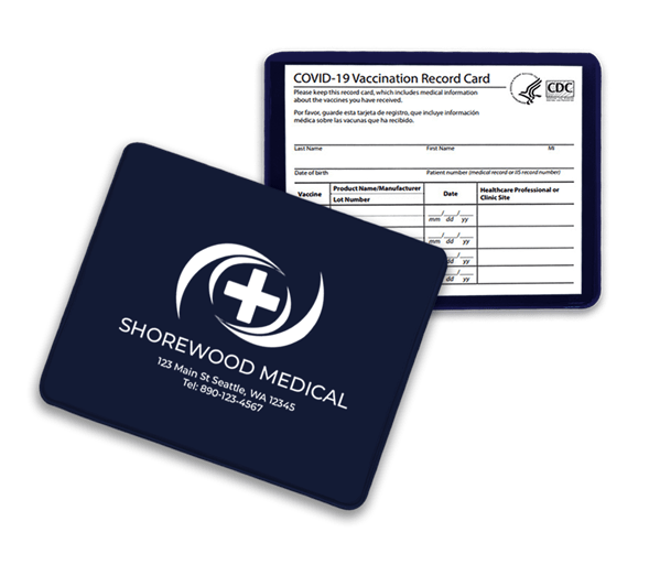 Navy blue vaccination card