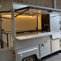 Citroen HY trasformato in truck food, allestimenti food truck, truck food NapoliAllestimenti Plasto lucidi Citroen HY, food truck.