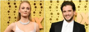 GOT Reunion: Sophie Turner And Kit Harrington Have Us In Our Feelings With These Pictures From The Emmy's