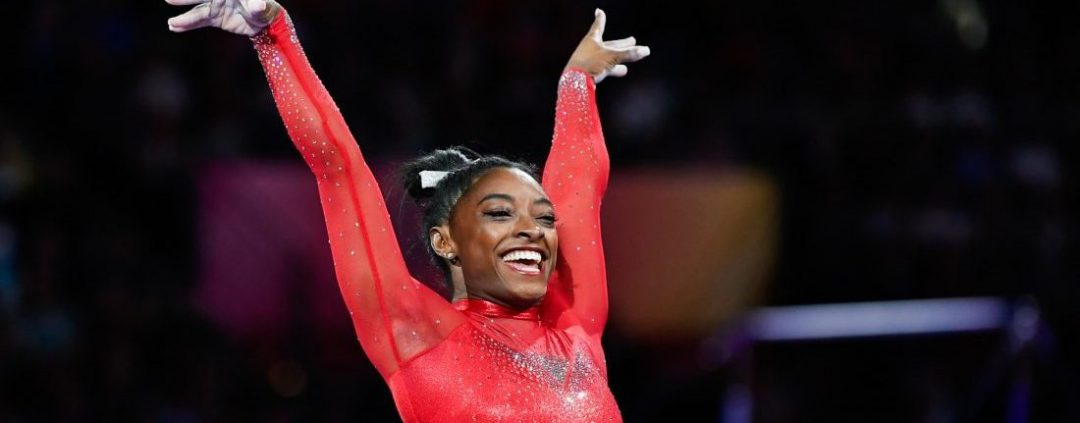 simone biles breaks record for most decorated gymnast