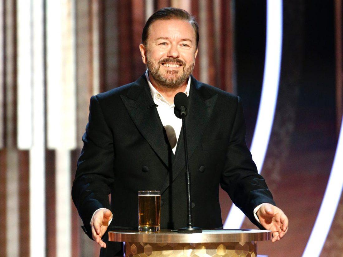 Ricky Gervais Apple golden globes