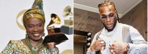 Angelique Kidjo Dedicates Best World Music To Burna Boy At The Grammys