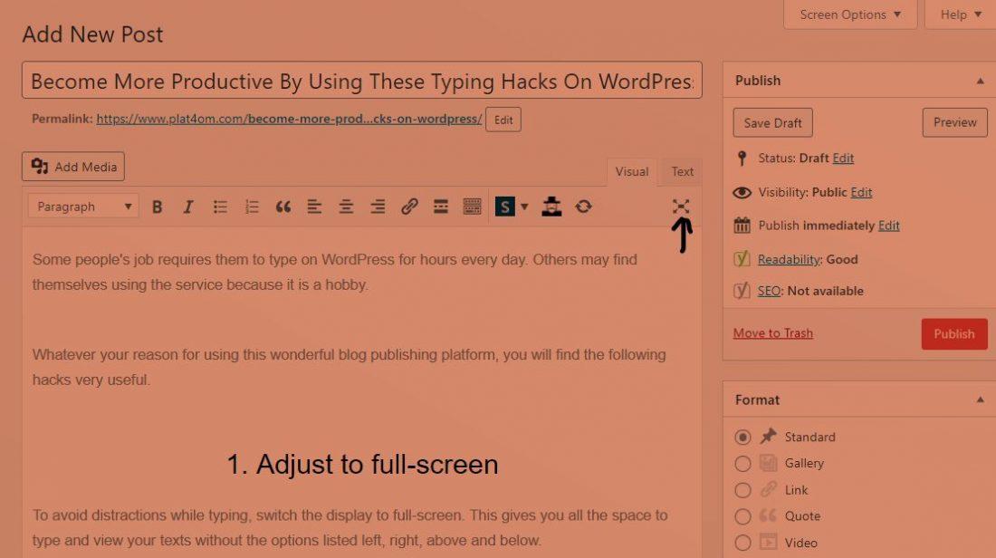 WordPress hacks productivity