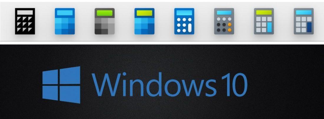 Windows 10 new icon design