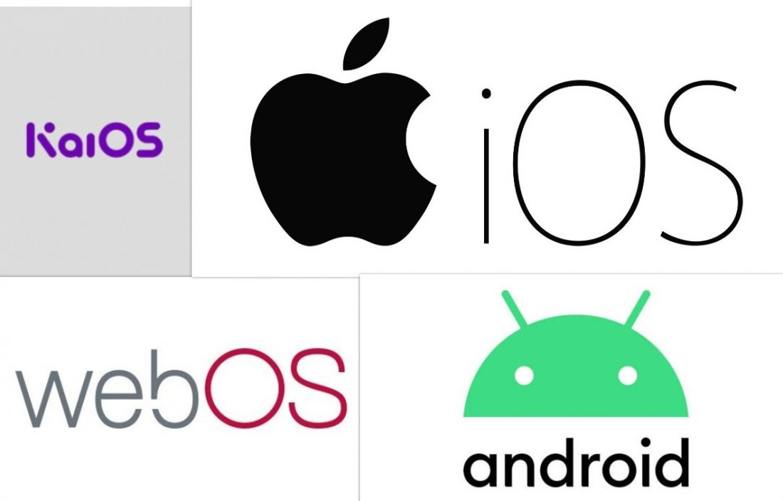 ignore PC updates smartphones KaiOS iOS webOS Android collage