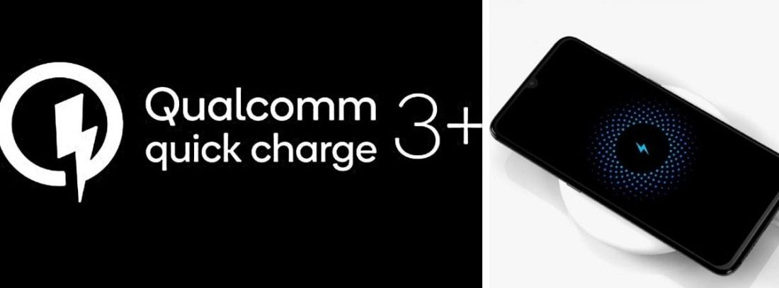 Qualcomm Quick Charge 3+ charging technology.