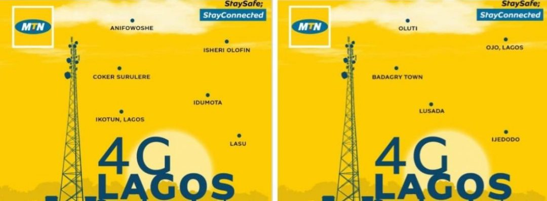 MTN Nigeria Announces Upgraded 4G Networks In Lagos Locations, See If Your Area Is Listed