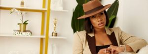 Chika Ike Is A Stunning Boss Chic In This Brown Pantsuit Style