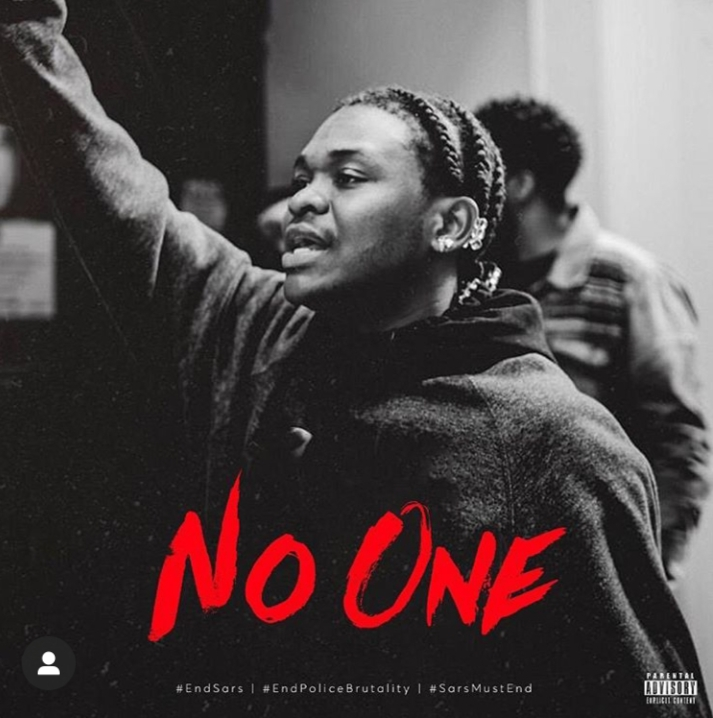 """Dice Ailes Releases #EndSARS Conscious Song """"No One"""""""