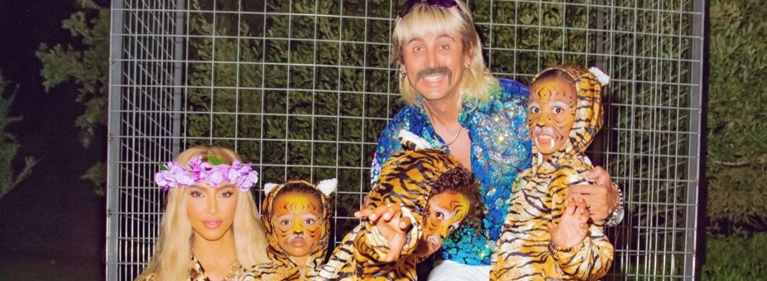 "Kim Kardashian And Kids Rock ""Tiger King"" Costume For Halloween"