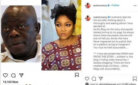 Omotola Jalade-Ekeinde Reacts To News Of Alleged Affair With Adams Oshomole