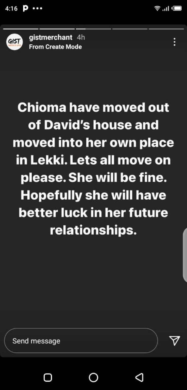 Chioma Deletes Engagement Photos- Is Relationship With Davido Over?