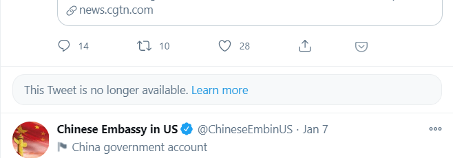 "Twitter Locks Out The Account Of China's US Embassy Over ""Baby-Making"" Tweet"